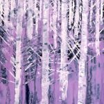 Purple Birches